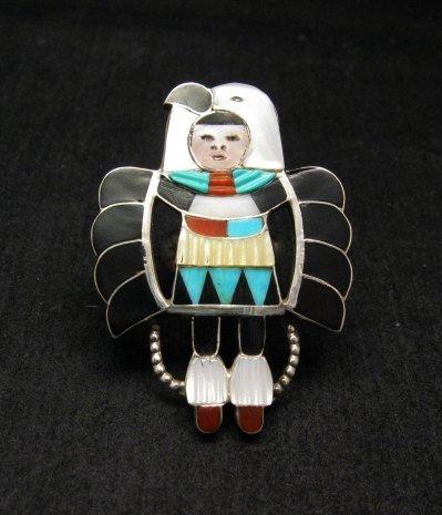 Image 0 of Madeline Beyuka ~ Zuni ~ Eagle Dancer Inlay Ring Sz7
