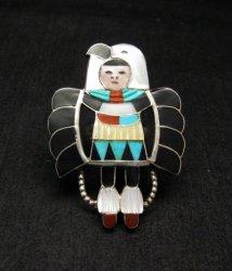 Madeline Beyuka ~ Zuni ~ Eagle Dancer Inlay Ring Sz7