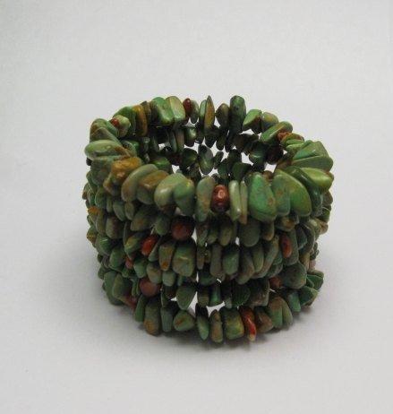Image 0 of James & Doris Coriz Santo Domingo Green Turquoise Coil Bracelet