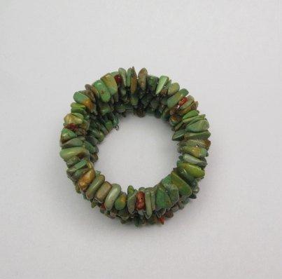 Image 1 of James & Doris Coriz Santo Domingo Green Turquoise Coil Bracelet
