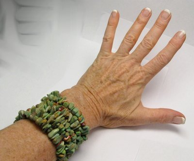 Image 2 of James & Doris Coriz Santo Domingo Green Turquoise Coil Bracelet