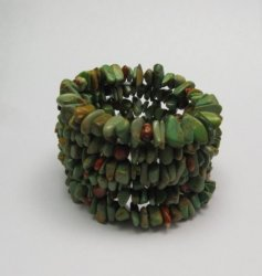 James & Doris Coriz Santo Domingo Green Turquoise Coil Bracelet