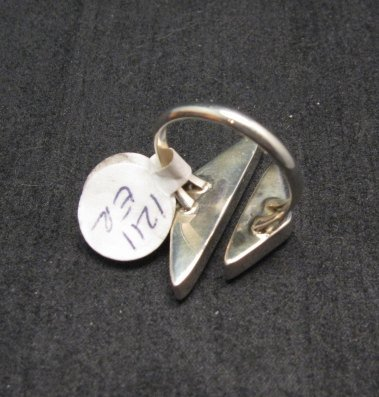 Image 2 of Native American Wrap-around Multigem Inlay ring sz6 to sz8