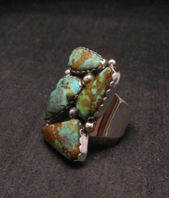 Image 1 of Anna Spencer Navajo Turquoise Sterling Silver Ring sz6-1/2
