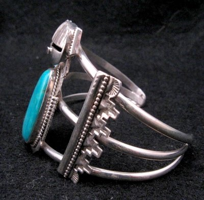 Image 3 of Nelson Morgan Navajo Turquoise Silver Hopi Maiden Bracelet