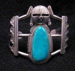 Nelson Morgan Navajo Turquoise Silver Hopi Maiden Bracelet