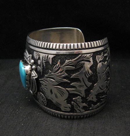 Image 2 of LARGE Richard Singer Navajo Horse Storyteller Sterling Silver Bracelet