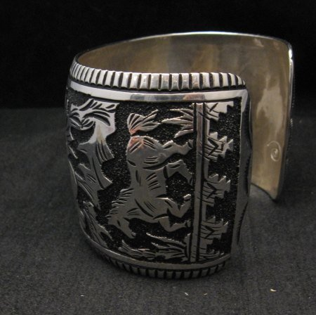 Image 3 of LARGE Richard Singer Navajo Horse Storyteller Sterling Silver Bracelet