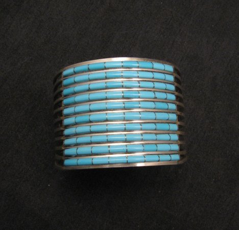 Image 2 of Zuni 10-row Sleeping Beauty Turquoise Bracelet, Anson & Letitia Wallace