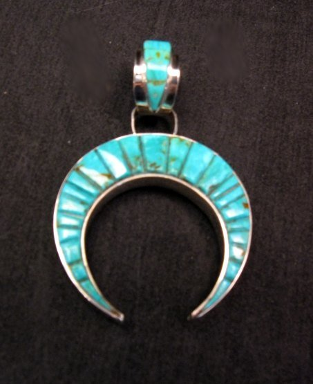 Image 1 of Reversible Navajo Inlay Hogan Night Sky Naja Pendant, Merle House