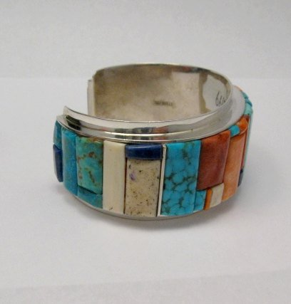 Image 4 of Big Harry Smith ~ Navajo ~ Cobblestone Inlay Bracelet