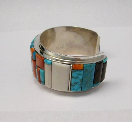 Image 5 of Big Harry Smith ~ Navajo ~ Cobblestone Inlay Bracelet