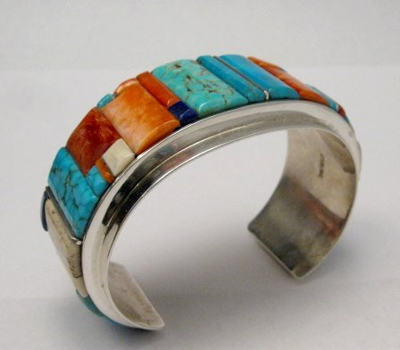 Image 1 of Big Harry Smith ~ Navajo ~ Cobblestone Inlay Bracelet