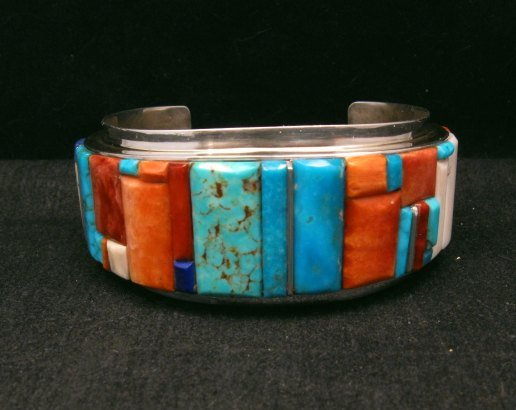 Image 3 of Big Harry Smith ~ Navajo ~ Cobblestone Inlay Bracelet