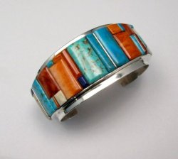 Big Harry Smith ~ Navajo ~ Cobblestone Inlay Bracelet