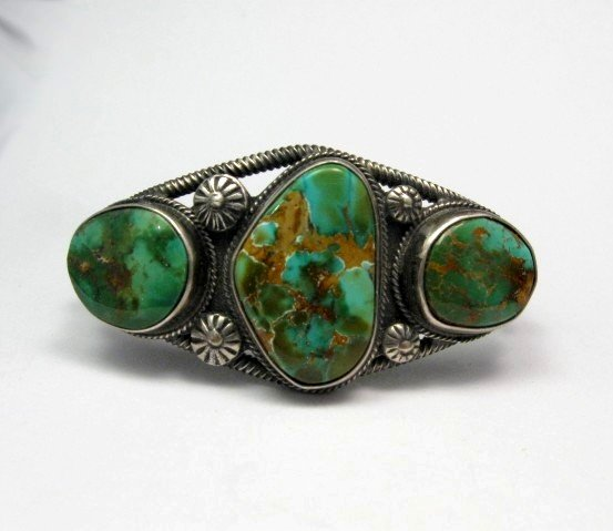 Image 0 of Navajo Native American Royston Turquoise Cuff Bracelet, Virgil Begay
