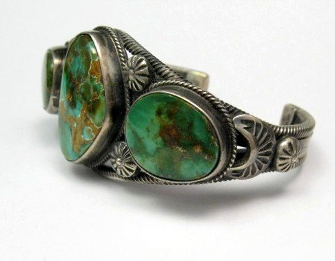 Image 2 of Navajo Native American Royston Turquoise Cuff Bracelet, Virgil Begay
