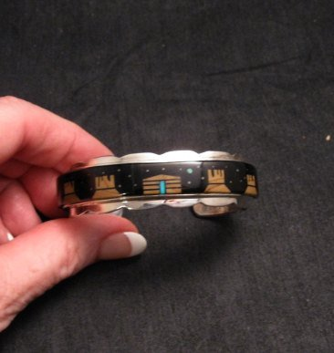 Image 0 of Merle House Navajo Monument Valley Hogan Night Sky Bracelet
