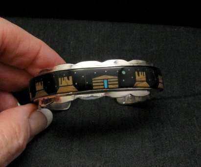 Image 3 of Merle House Navajo Monument Valley Hogan Night Sky Bracelet