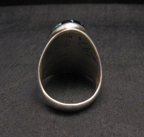 Image 3 of Large Zuni Multi Stone Inlay Ring, Cleo Kallestewa, sz10-3/4