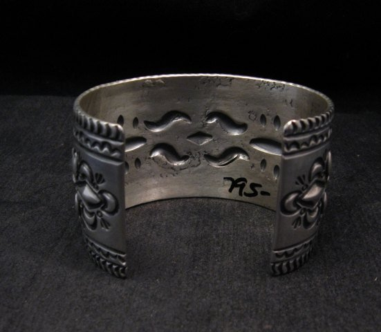 Image 6 of Darryl Becenti Navajo Stamped Sterling Silver Cuff Bracelet