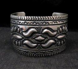 Navajo Revival Style Naja Sterling Silver Earrings, Darryl Becenti