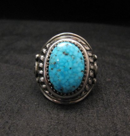 Image 0 of Native American Navajo Derrick Gordon Turquoise Mens Ring Sz11-1/2