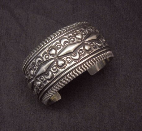Image 1 of Darryl Becenti Navajo Native American Sterling Silver Cuff Bracelet
