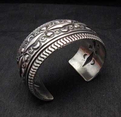 Image 2 of Darryl Becenti Navajo Native American Sterling Silver Cuff Bracelet