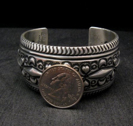 Image 3 of Darryl Becenti Navajo Native American Sterling Silver Cuff Bracelet