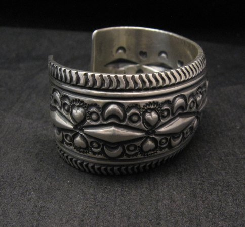 Image 4 of Darryl Becenti Navajo Native American Sterling Silver Cuff Bracelet