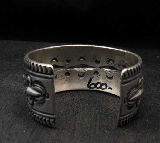 Image 6 of Darryl Becenti Navajo Native American Sterling Silver Cuff Bracelet