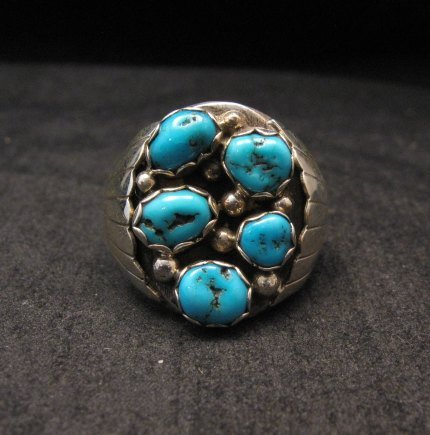 Image 0 of Navajo Turquoise Sterling Silver Mens Ring sz13-1/2, Marlene Martinez