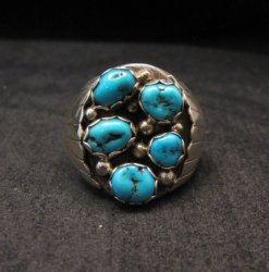 Navajo Turquoise Sterling Silver Mens Ring sz13-1/2, Marlene Martinez