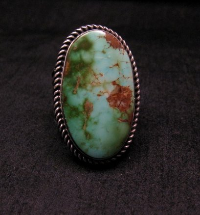 Image 0 of Albert Jake ~ Navajo ~ Native American Royston Turquoise Ring Sz9-11 adjustable