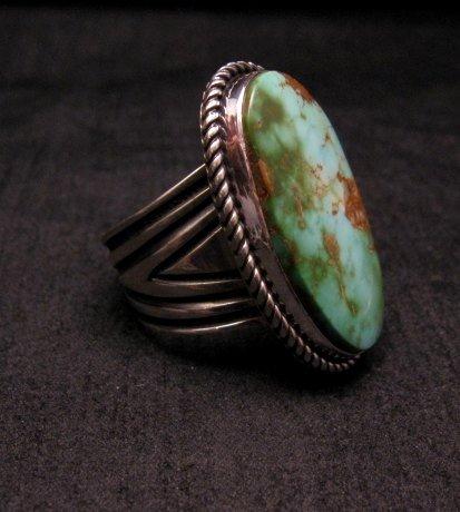 Image 1 of Albert Jake ~ Navajo ~ Native American Royston Turquoise Ring Sz9-11 adjustable