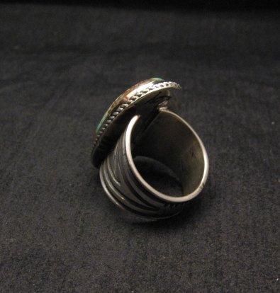 Image 4 of Albert Jake ~ Navajo ~ Native American Royston Turquoise Ring Sz9-11 adjustable