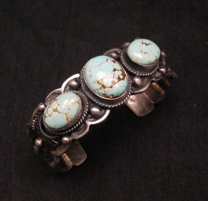 Image 0 of Navajo Native American Number 8 Turquoise Bracelet, Gilbert Tom