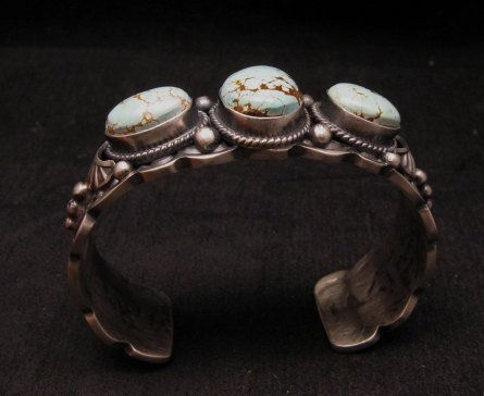 Image 2 of Navajo Native American Number 8 Turquoise Bracelet, Gilbert Tom