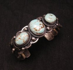 Navajo Native American Number 8 Turquoise Bracelet, Gilbert Tom