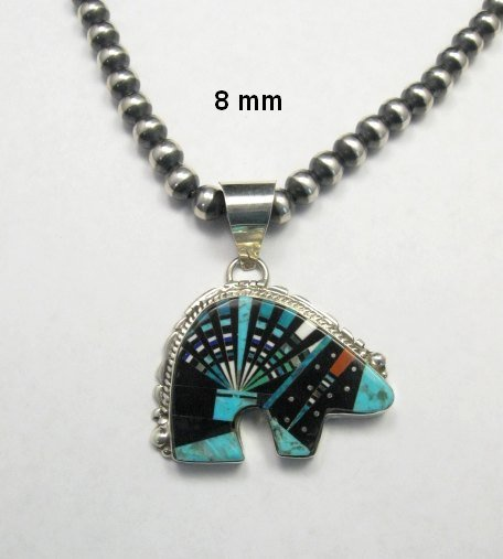 Image 2 of Native American Navajo Multigem Inlaid Bear Pendant, Ray Jack
