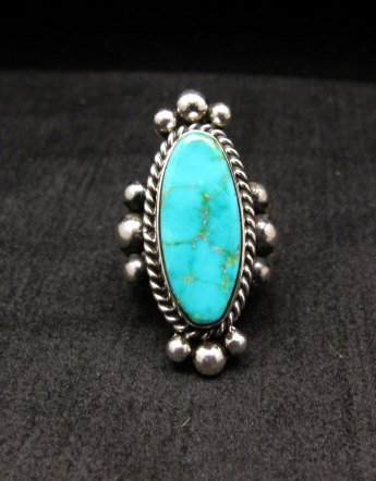 Image 0 of Old Pawn Style Native American Royston Turquoise Ring sz8-1/2, Guy Hoskie