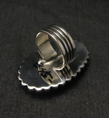 Image 3 of Spiny Oyster Navajo Silver Ring Sz6-1/2 by Happy Piasso