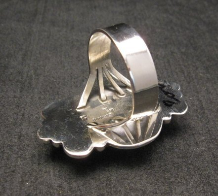 Image 3 of Navajo Handmade Silver Spiny Oyster Ring Sz12, Gilbert Tom
