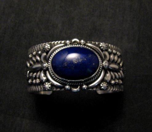 Image 0 of Navajo Native American Lapis Silver Bracelet, Darryl Becenti