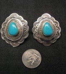 Arnold Blackgoat Navajo Turquoise Sterling Silver Earrings