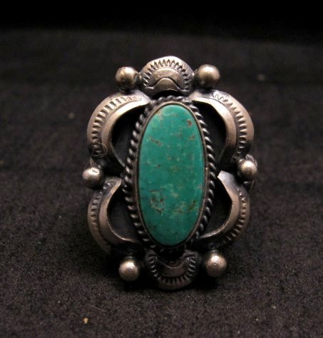 Image 0 of Navajo Native American Indian Royston Turquoise Ring Sz8-3/4, Gilbert Tom