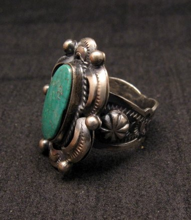 Image 1 of Navajo Native American Indian Royston Turquoise Ring Sz8-3/4, Gilbert Tom