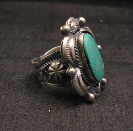 Image 2 of Navajo Native American Indian Royston Turquoise Ring Sz8-3/4, Gilbert Tom