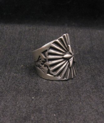 Image 1 of Old Pawn Style Navajo Sterling Silver Ring Sz6-1/2, Derrick Gordon